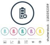 power management flat color... | Shutterstock .eps vector #1183352359