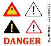 set attention danger signal... | Shutterstock .eps vector #1183359136