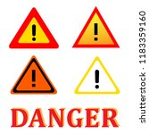 set attention danger signal... | Shutterstock .eps vector #1183359160