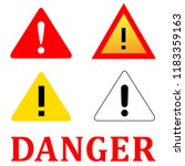 set attention danger signal... | Shutterstock .eps vector #1183359163