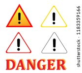 set attention danger signal... | Shutterstock .eps vector #1183359166