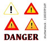 set attention danger signal... | Shutterstock .eps vector #1183359169