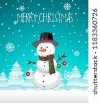 a snowman christmas template... | Shutterstock .eps vector #1183360726