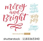 merry christmas and happy new... | Shutterstock .eps vector #1183365340