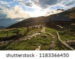 capanne borgna in ticino... | Shutterstock . vector #1183366450