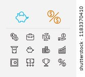 investment icons set. way to... | Shutterstock .eps vector #1183370410