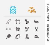 activity icons set. winter...