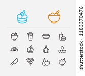 food icons set. healthy food...