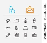 office icons set. laptop and...