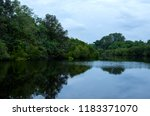 view of lake with reflection | Shutterstock . vector #1183371070