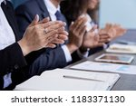 faceless view of businesspeople ... | Shutterstock . vector #1183371130