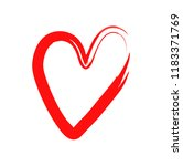 vector heart with a dry brush.... | Shutterstock .eps vector #1183371769