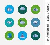 cloud service icons set. data...
