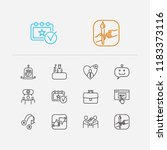 support icons set. export and...