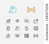 tech icons set. artificial...