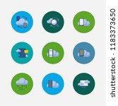 cloud service icons set. search ...