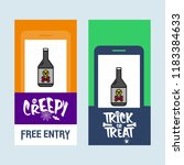 happy halloween invitation... | Shutterstock .eps vector #1183384633