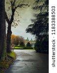 autumn city  autumn alley in... | Shutterstock . vector #1183388503