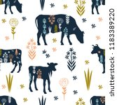seamless pattern with the image ... | Shutterstock .eps vector #1183389220