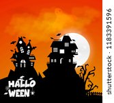 happy halloween design element... | Shutterstock .eps vector #1183391596