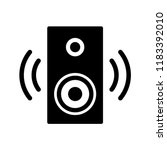 speaker icon vector templates | Shutterstock .eps vector #1183392010