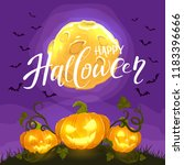 halloween background with jack... | Shutterstock .eps vector #1183396666