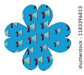 bullhorn flower frame | Shutterstock .eps vector #1183396813