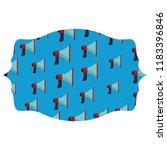 bullhorn label frame | Shutterstock .eps vector #1183396846