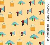 cloud bullhorn and padlock... | Shutterstock .eps vector #1183396900