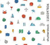 seamless pattern with traveling ... | Shutterstock .eps vector #1183397836