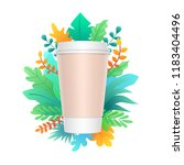 paper coffee cup design with... | Shutterstock .eps vector #1183404496