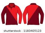 long sleeve shirt design    Shutterstock .eps vector #1183405123