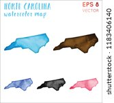 north carolina watercolor us... | Shutterstock .eps vector #1183406140