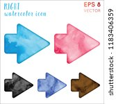 right watercolor icon set.... | Shutterstock .eps vector #1183406359