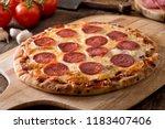 a delicious fresh homemade... | Shutterstock . vector #1183407406