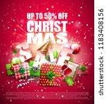 luxury christmas sale poster...   Shutterstock .eps vector #1183408156
