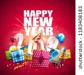 happy new year 2019   flyer... | Shutterstock .eps vector #1183408183