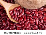 red kidney beans in wooden | Shutterstock . vector #1183411549