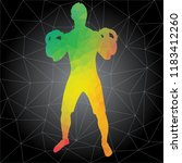 workout concept. vector... | Shutterstock .eps vector #1183412260