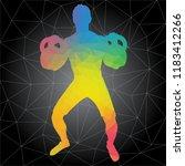 workout concept. vector... | Shutterstock .eps vector #1183412266