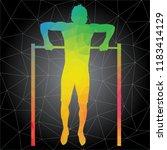 workout concept. vector... | Shutterstock .eps vector #1183414129