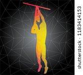 workout concept. vector... | Shutterstock .eps vector #1183414153