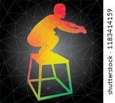 workout concept. vector... | Shutterstock .eps vector #1183414159