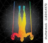 workout concept. vector...   Shutterstock .eps vector #1183414570