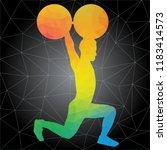 workout concept. vector...   Shutterstock .eps vector #1183414573