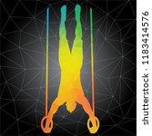workout concept. vector...   Shutterstock .eps vector #1183414576