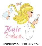 hairdresser    beautiful... | Shutterstock .eps vector #1183417723