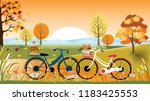 panoramic of countryside... | Shutterstock .eps vector #1183425553