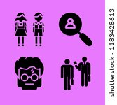 set of 4 people filled icons... | Shutterstock .eps vector #1183428613