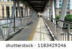 pedestrian overpass or overpass ... | Shutterstock . vector #1183429246